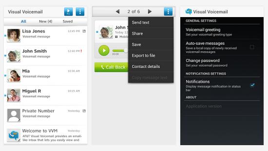 ATT Visual Voicemail App
