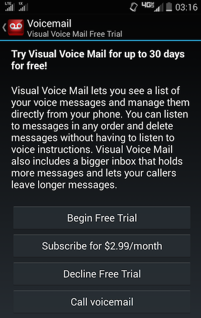 verizon visual voicemail activation screen